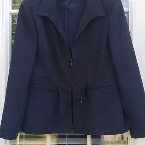 Valentino Jackets & Coats - Valentino Navy Blue Tailored Belted Jacket Sz 12